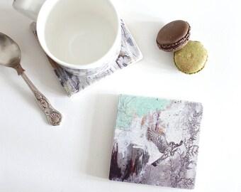 American Kestrel - Stone Tile Coaster