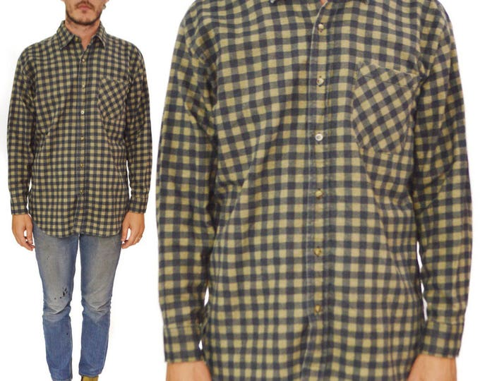 Vintage 90s Puritan Checkered Flannel Button Down Shirt