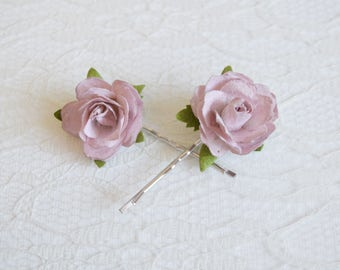 Blush Rose Clips, wedding hair accessories, bridal hair clips, blush rose pins, flower hair clips, rose bobby pins, flowergirl, bridesmaid