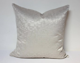 Opal pillow cover, Silver pillow cover, gray velvet fabric, gray pillow cover, Silver throw pillow cover
