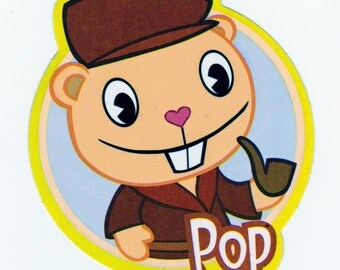 Happy Tree Friends POP Sticker - Licensed Collectible HTF Pop Sticker from Mondo Media Television Show - Cuddly and Horribly Wrong