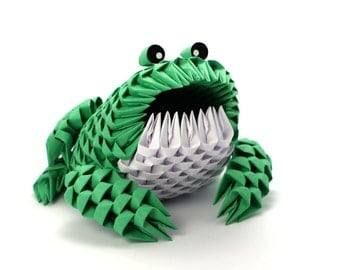3D Origami Frog