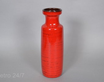 Scheurich West German ceramic  vase 200-28  - red