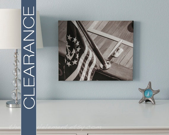 Wall Decor For Lake House : Nautical wall art lake house decor canvas