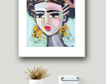 Frida Print, roses, 8 x 10, 11x14, 16x20, 24 x 30