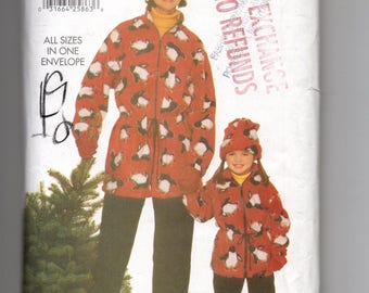 Uncut 5090 Butterick Sewing Pattern Loose Fitting Unlined Jacket & Tapered Pants Hat Size Small Medium Large 6 to 18 Factory Folded