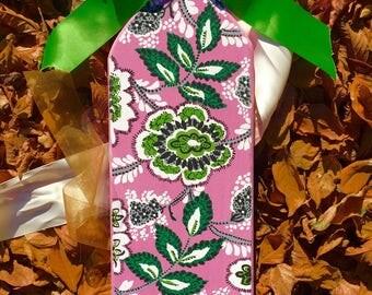 "Hand-painted ""24 Vera Bradley-Inspired Sorority Paddle"