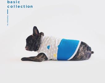Blue Scallop Print Sleeveless Shirt
