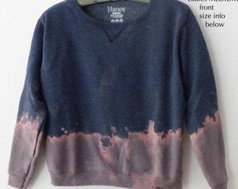 Ladies Sweatshirt, Blue Sweatshirt, Women's sweatshirt, MEDIUM Crewneck, Pink sweatshirt, grunge, Ladies Sweatshirt,tie dye. gift for her