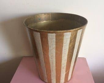 Vintage Florentia Hand Made Gilded Waste Basket
