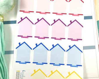 House Stickers   Planner Large House Stickers  for Erin Condren / Home Chores Stickers, House Stickers, Home To Do List