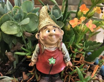 Lady Gnome Figurine Fairy Garden Miniatures Accessories Garden Gnome