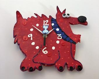 Kids Clock,Puppy Clock, Modern Clock for Children,Baby Nursery Decor,Animal Clock, Fun Clock for Kids,
