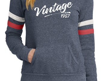 WOMEN'S VINTAGE 1987 TEE,  birthday for her, Birthday shirt for her,  1987 birthday, Any year