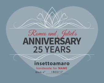 Greeting Card Label  - ANNIVERSARY GIFT - Extra for Tote Bag