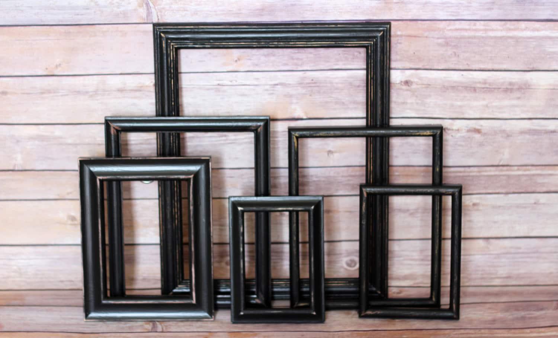 Gallery Wall Frame Set Distressed Frame Set Black