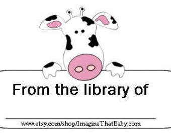 Spotted Cow Bookplates - Printable Bookplates - Digital File  - Instant Download