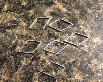 Silver Diamond Stitch Markers