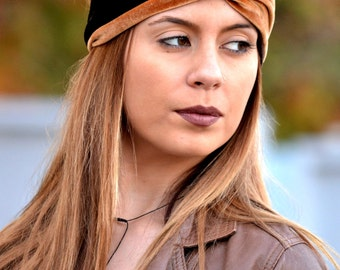Velvet Turban, Brown Turbans, Running Turban, Yoga Turbands, Boho Turbans, Workout Headband, Womens Turban, Womens Turbans, Twist Headbands