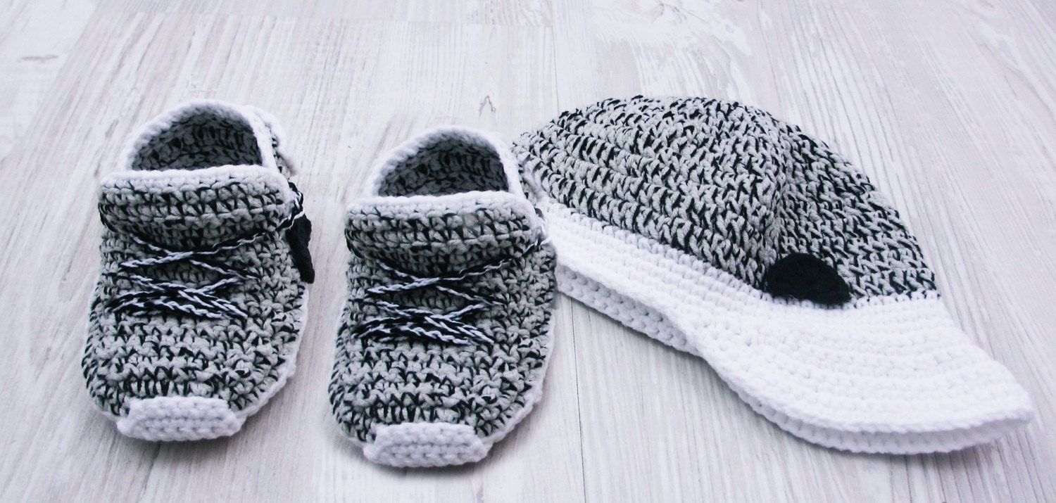 Grey Crochet Baby Shoes Crochet Baby Booties Athletic Shoes