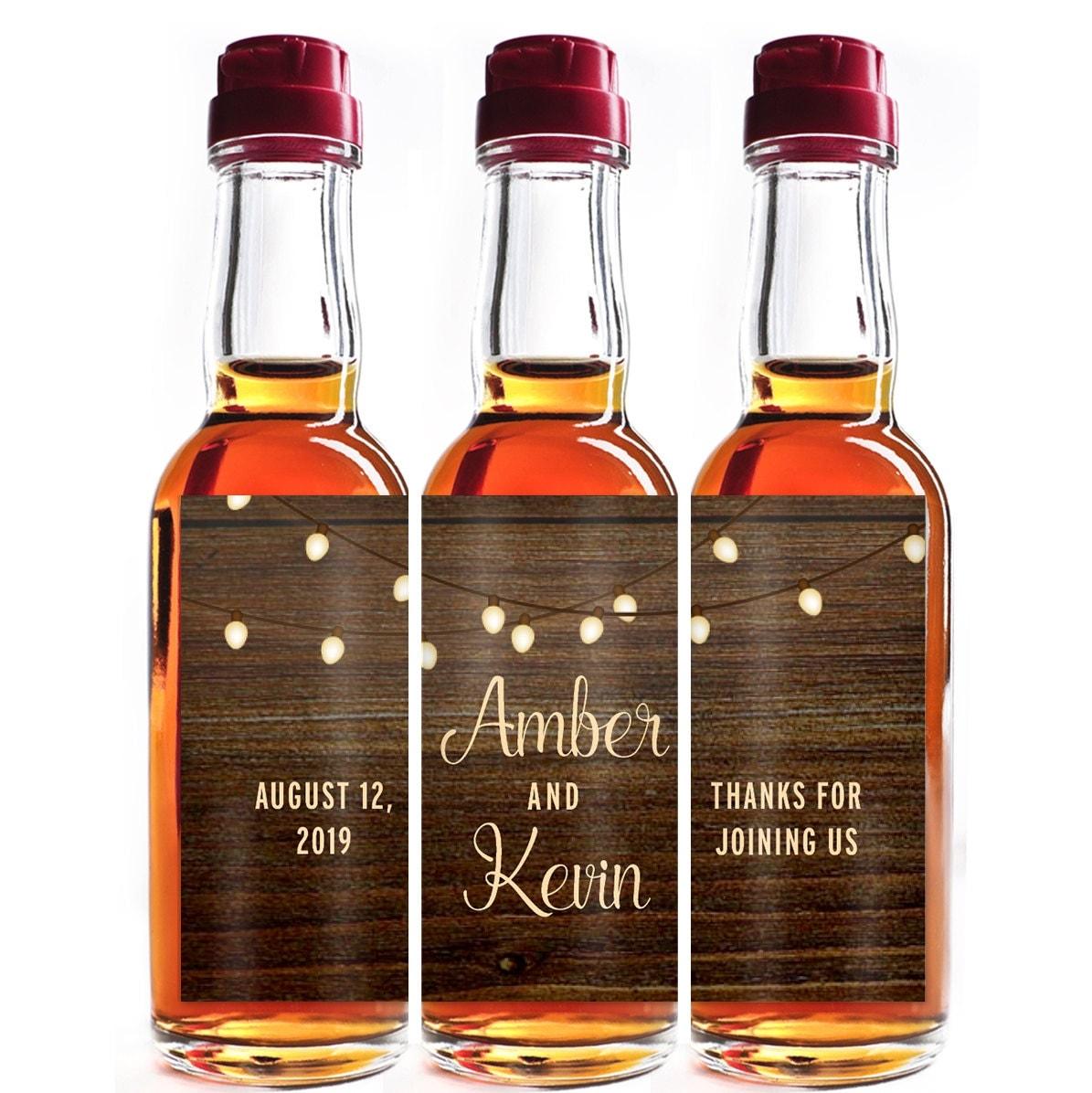 Custom Liquor Mini Bottle Favors Personalized Labels