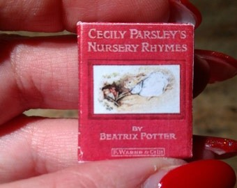 Dolls House 12th Scale Cecily Parsley's Nursery Rhymes by Beatrix Potter . Downloadable miniature book.