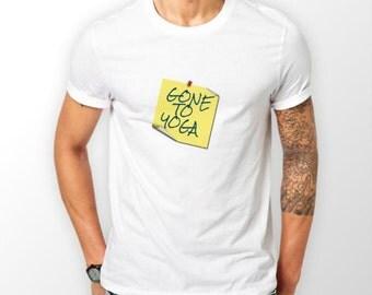 GONE to YOGA - Men's YOGA Meditation White T-Shirt