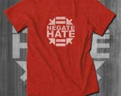 Negate Hate T-Shirt Coexist T-Shirt Men African American T-shirts Africa T shirt Men Clothing racial equality clothing Black lives Matter