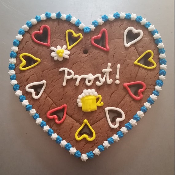 Customized Gingerbread Heart (Lebkuchen) - large