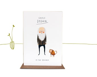 Charles Darwin Fine specimen illustrated Valentine's Day Card
