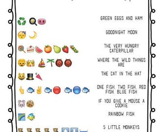 Children's Book Emoji Pictionary Baby Shower