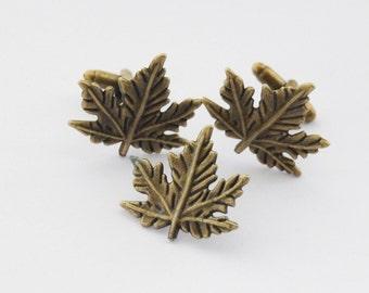 Maple Leaf Cufflinks set, Autumn Cufflinks, Fall Cufflinks and Tie Tack Set, Maple Leaf Tie Pin, Canada Cufflinks, Canada Tie Tack, Dad gift
