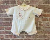 This Beauty is 25% off 1950s Baby Jumper Onesie / Clown Dog / Baby Shower Gift / New Baby Gift / Baby Photo Shoot