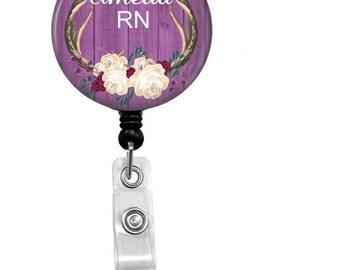 Retractable Badge Reel - Personalized ID Badge - Badge Reels - Id Badge - Custom Nurse Badge - Nurse Belt Clip - Custom Nurse Name Badge