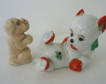 Vintage Kitschy Dog Figurines (set of 2)