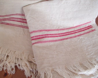 214.Flax linen towel, vintage organic linen, homespun pure flax linen towel, flax linen  towel, handwoven guest towel (unused)