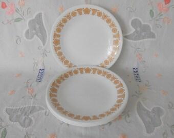 Corelle Butterfly Gold Bread & Butter / Dessert Plates