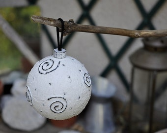 "Christmas bauble ""Spiral"""