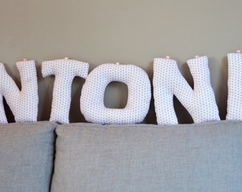 Firstname Cushion letters, ideal birth gift ! Customizable at will !