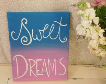 Sweet Dreams, Canvas Art, Kids Room Decor