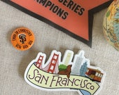 San Francisco Skyline Vinyl-Aufkleber / SF Kalifornien Aufkleber / Cool Laptop Aufkleber / illustriert SF Stadt Autoaufkleber / wasserdicht Aufkleber