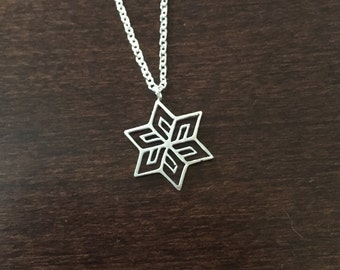 snowflake, snowflake necklace, snowflake jewelry, snowflake pendant, winter necklace, winter jewelry, snow flake necklace, silver necklace