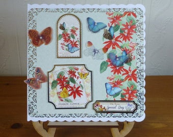 Ladies Large Butterfly Birthday/Mothers Day Card