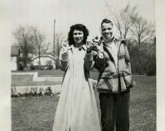 Vintage Photo..Lucky Strikes, 1950's Original Found Photo, Vernacular Photography
