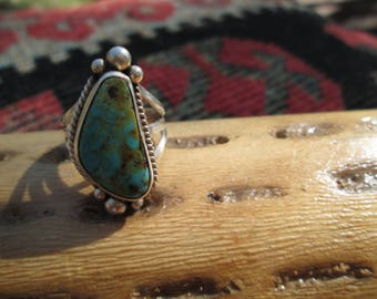 Royston Turquoise and Sterling  Ring Size 5
