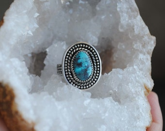 Cloud Mountain Turquoise Ring, SIZE 7