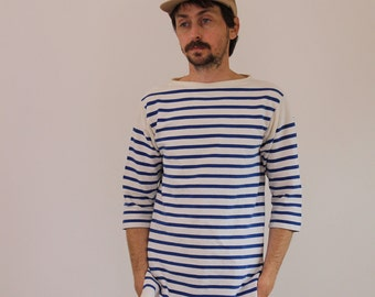 Vintage Striped French Sailor Shirt Small