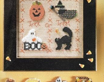 CROSS STITCH PATTERN - Halloween Ornament Cross Stitch Pattern- Beaded Cross Stitch Pattern - Embellished Cross Stitch