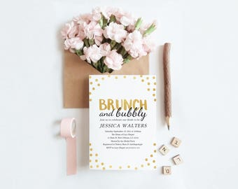 Brunch and Bubbly Invitation (Printable)