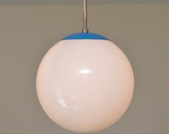 Cobalt Blue Modern Pendant Fixture - Clean Lines - Pendants Lighting Fixture - Globe Lighting Fixture & Pendant lighting | Etsy azcodes.com